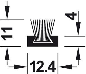 staubschutzprofil zum kleben oder schrauben l cher vorgebohrt im h fele italien shop. Black Bedroom Furniture Sets. Home Design Ideas