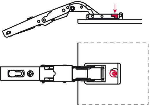 Cerniera duomatic 110 montaggio ad angolo per ante in - Specchio adesivo per anta armadio ...