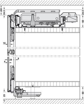 Meccanismo Ante Scorrevoli Complanari.Ante Scorrevoli Slido Flat 60 Fb Complanare Guarnitura In