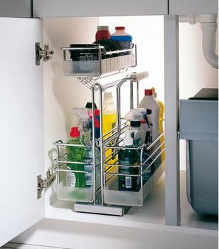 Cestelli Estraibili Per Cucina Sottolavello.Carrello Estraibile Sottolavello Mobile Base Con Rientro