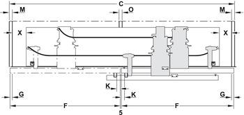 Meccanismo Ante Scorrevoli Complanari.Guarnitura Per Ante Scorrevoli Complanari Finetta Flatfront M 50