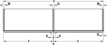 Guide Ante Scorrevoli Complanari.Guarnitura Per Ante Scorrevoli Complanari Finetta Flatfront M 50