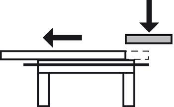Staffe Pieghevoli Per Tavoli.Guide A Rulli Per Tavoli Estraibili Per 1 Allunga Per Telaio