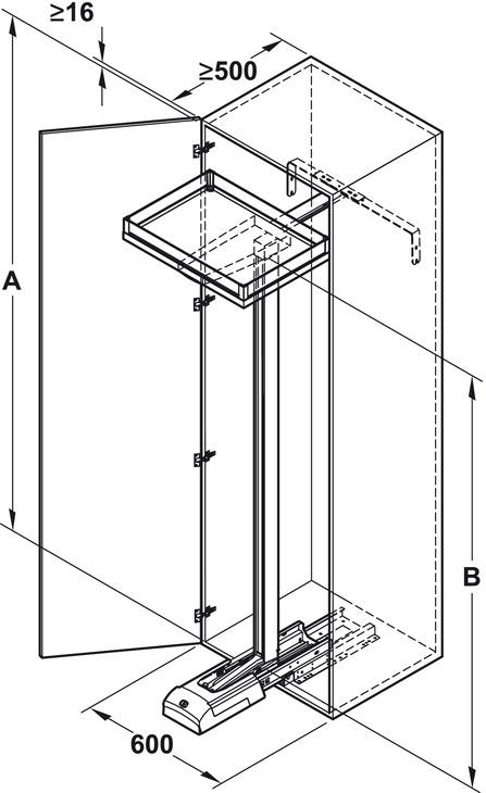 guarnitura estraibile con ripiani,cassetto interno per armadio a