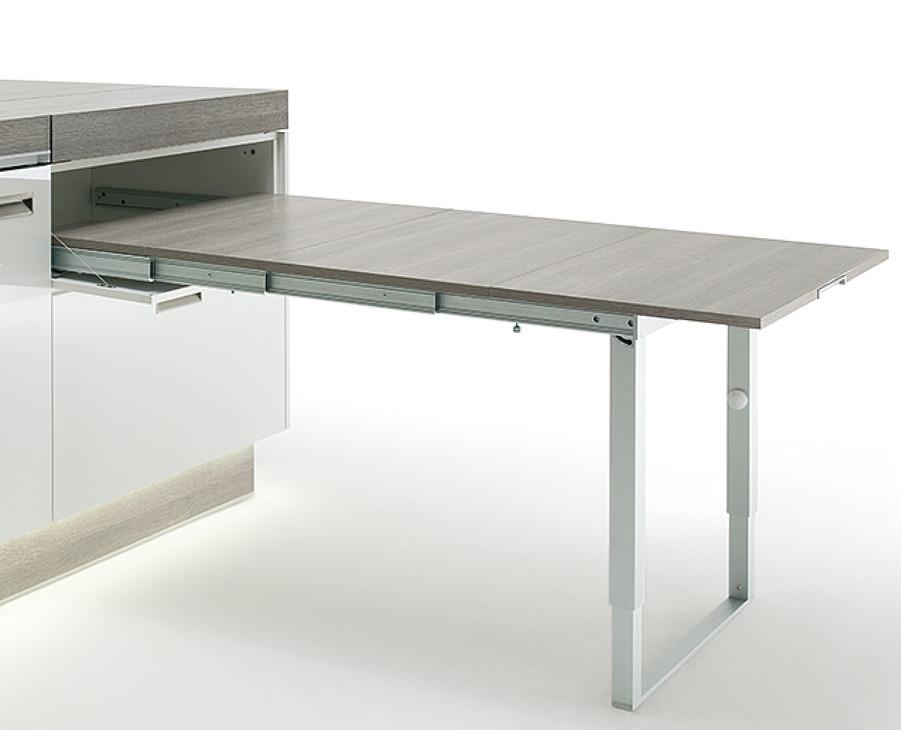 Meccanismo per tavolo estraibile con telaio di sostegno - Meccanismo rotante per tavolo ...