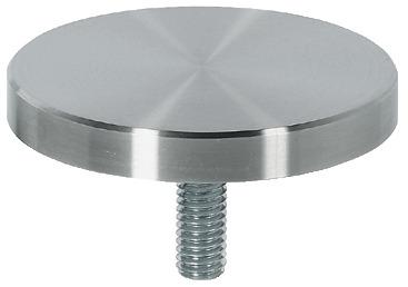 Piastra di fissaggio,per tavolini in cristallo, fino a diametro 1000 ...