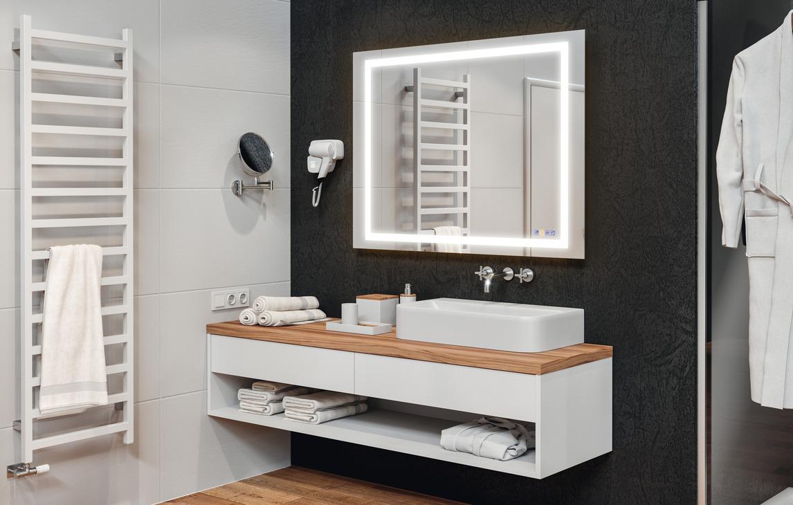 Specchio da bagno multifunzione häfele aquasys u2013 in häfele italia shop