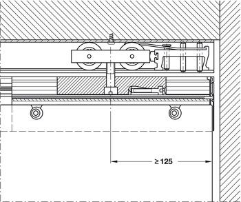Meccanismi per ante traslanti,per porte interne, set guarniture ...